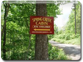 Spring Creek Cabin Sign